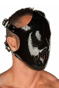MASQUE HANNIBAL LECTER NOIR INVINCIBLE RUBBER