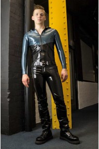 JEANS LATEX TAILLE BASSE