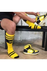 CHAUSSETTES FOOT DELUXE JAUNES/NOIRES