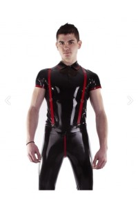 POLO LATEX NOIR ET ROUGE