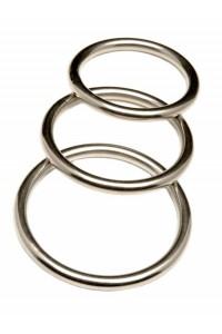 LOT DE 3 COCK-RINGS EN METAL