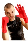 GANTS LATEX COURTS ROUGE