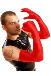 GANTS LATEX ROUGE LONGS