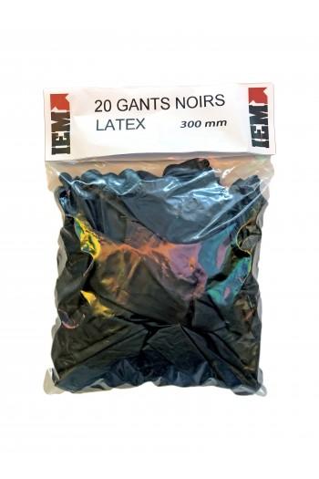 GANTS NOIRS 300 MM PAR 20