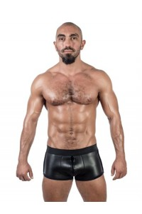 SHORT NOIR NEOPRENE FULL ZIP MISTER B