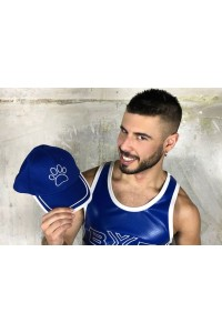 BASEBALL CAP BLEU WITH PUPPY WHITE