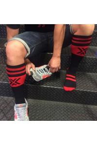CHAUSSETTES FOOT DELUXE NOIRES/ROUGES