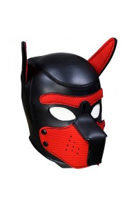 MASQUE PUPPY NEOPRENE NOIR/ROUGE