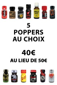 LOT DE 5 POPPERS 9-18 ML